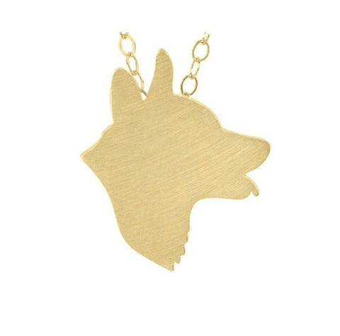 Corgi Head Profile Necklace