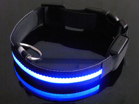Collar - LED Dog Collar - Black Pattern - Multiple Colors