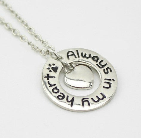 "Jewelry - ""Always In My Heart"" Hoop Necklace"