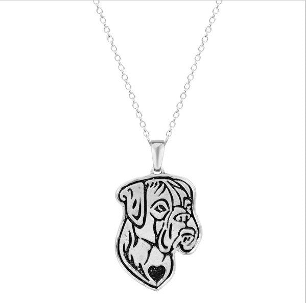 Jewelry - Boxer Profile Necklace