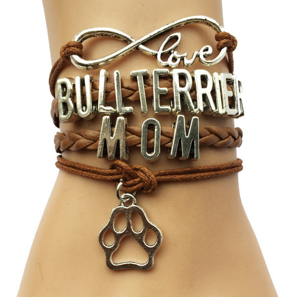 Jewelry - Bull Terrier Handmade Braided Bracelet