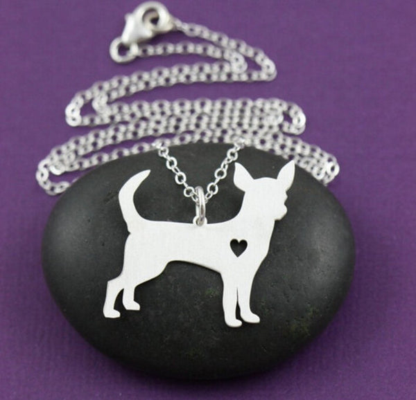 Jewelry - Chihuahua Pendant Necklace - Gold Or Silver