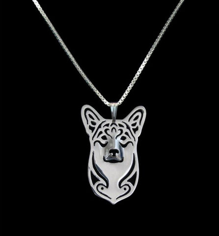 Jewelry - Corgi - Chic Face Outline Necklace