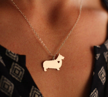 Jewelry - Corgi Pendant Necklace - Gold Or Silver