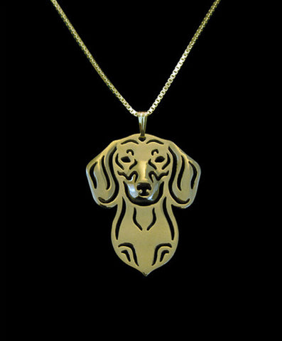 Jewelry - Dachshund - Chic Face Outline Necklace