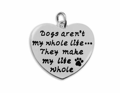 "Jewelry - ""Dogs Make My Life Whole"" Necklace"