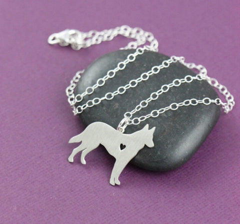Jewelry - German Shepherd Pendant Necklace - Gold Or Silver