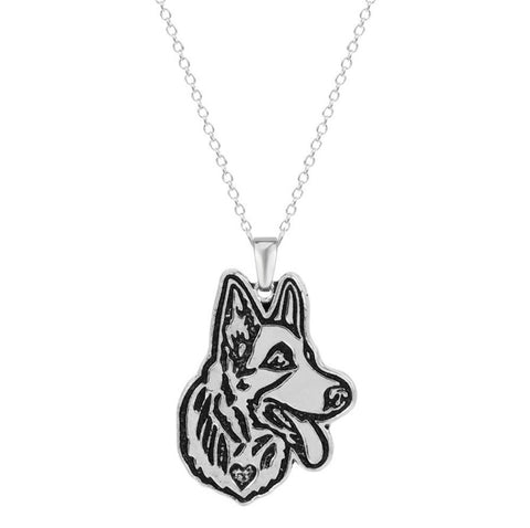 Jewelry - German Shepherd Profile Necklace