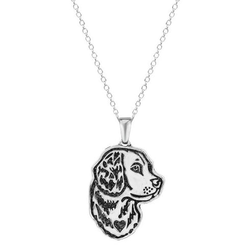 Jewelry - Golden Retriever Profile Necklace