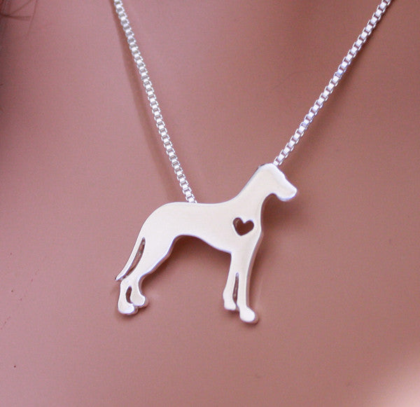 Jewelry - Great Dane Front Pendant Necklace