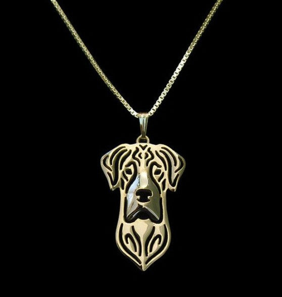 Jewelry - Great Dane Outline Pendant Necklace