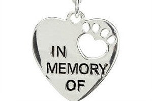 "Jewelry - ""In Memory Of"" Paw Print Necklace"