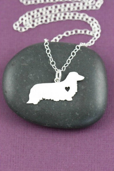 Jewelry - Long-haired Dachshund Necklace