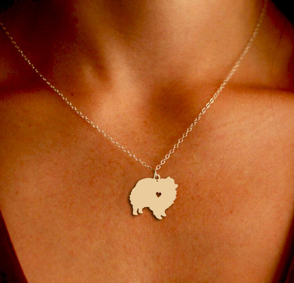 Jewelry - Pomeranian Pendant Necklace - Gold Or Silver