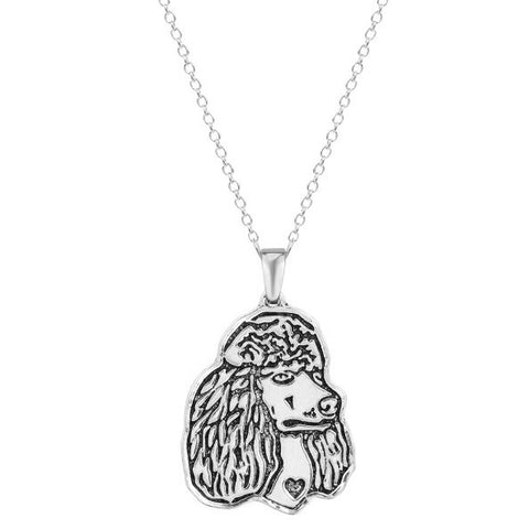 Jewelry - Poodle Profile Necklace