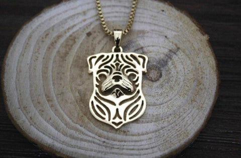 Jewelry - Pug Outline Pendant Necklace