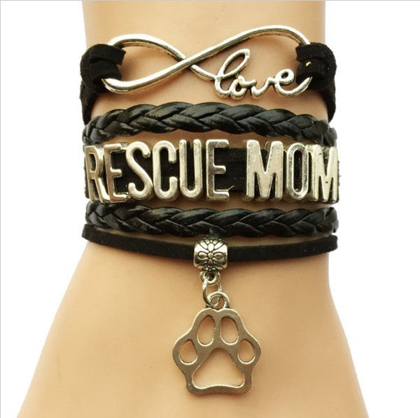 I Love My Mom Dog Collars