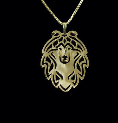 Jewelry - Shetland Sheepdog - Chic Face Outline Necklace