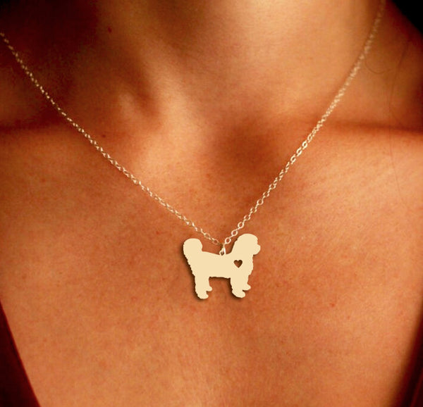 Jewelry - Shih Tzu Pendant Necklace - Gold Or Silver