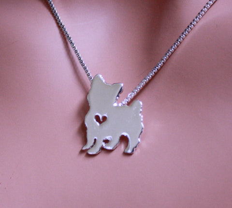 Jewelry - Yorkie Front Pendant Necklace