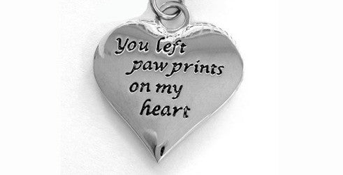 Jewelry - You Left Paw Prints On My Heart Necklace