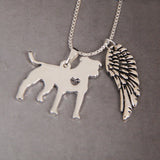 My Pit Bull My Angel Necklace