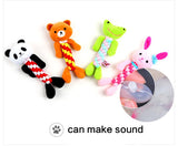 Adorable Animal Rope and Squeak Toy