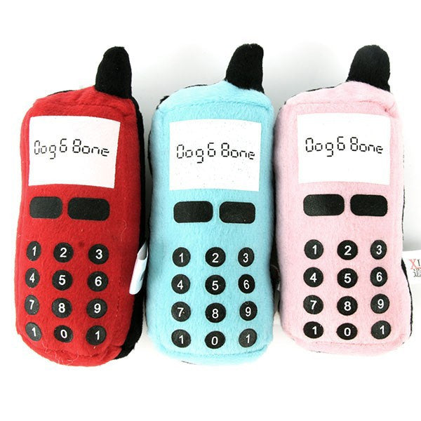 Dog Phone Plush Squeak Toy