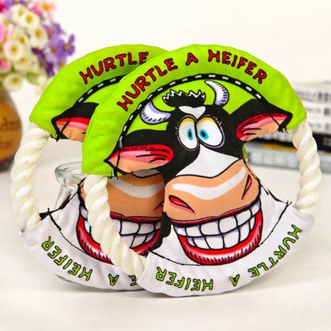 Hurtle A Heifer Dog Frisbee Toy
