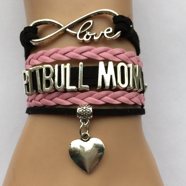 Love Pitbull Mom Bracelet