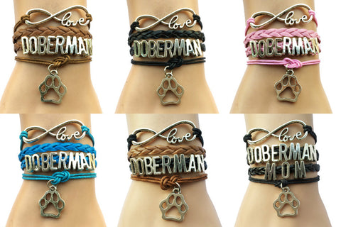 Doberman Love Bracelet