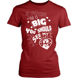 T-shirt - If You Think My Head Is Big - Women's Pit Bull T-Shirt