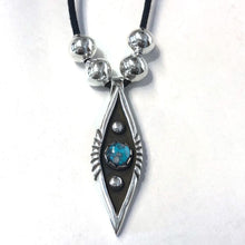 Load image into Gallery viewer, Kingman Turquoise Pendant<br>By Waddie Crazyhorse