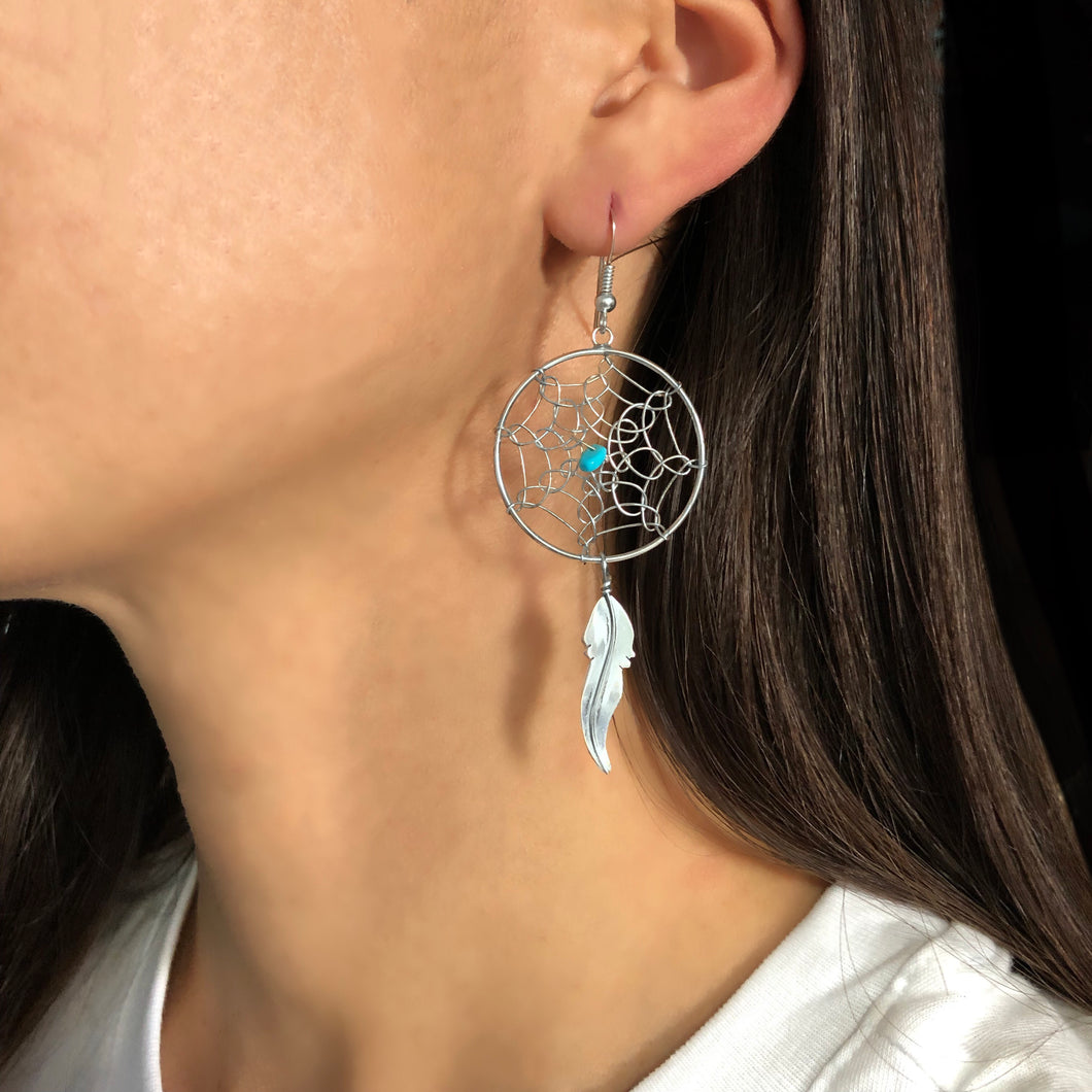 Large Dream Catcher Earrings By Lorenzo Arviso