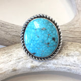 Kingman Turquoise<br>By Albert Lee<br>Size: 7