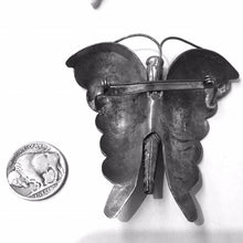 Load image into Gallery viewer, Large Old Navajo Butterfly Pin