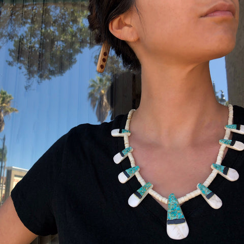 Vintage Pueblo Tab Necklace