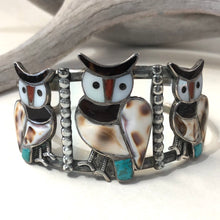 Load image into Gallery viewer, Three Owl Bracelet<br>By Blake and Velma Lesansee