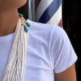 5 Strand White Clamshell Necklace