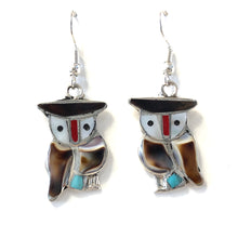 Load image into Gallery viewer, Zuni Owl Earrings