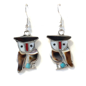 Zuni Owl Earrings
