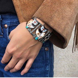 Three Owl Bracelet<br>By Blake and Velma Lesansee