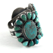 Load image into Gallery viewer, Dramatic Vintage Navajo Cluster Bracelet