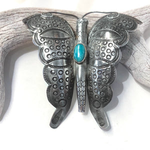 Large Old Navajo Butterfly Pin