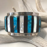 Ironwood, Mother of Pearl & Turquoise<br>By Corbet Joe