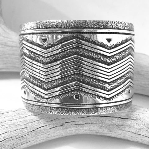 Wide Sterling Cuff By Jennifer Curtis