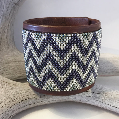 Beaded Leather Bracelet By Pony