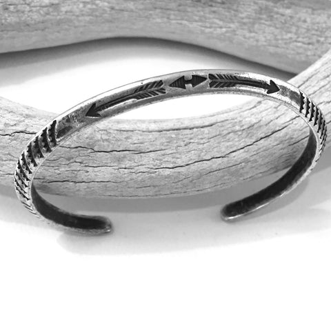 Ingot Bangle With Arrows