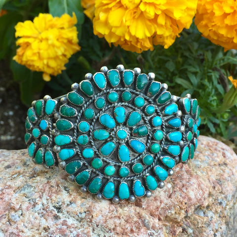 Vintage Zuni Cluster<br>Small Wrist