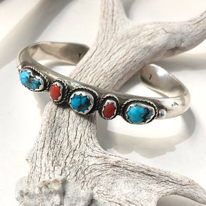 Coral & Turquoise Stacker